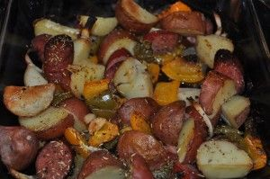 oven rosted peppers