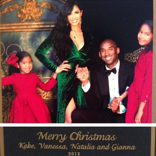 kobe family merry christmas card majic 1021
