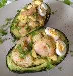 Stuffed Avocado with Garlic Shrimp Recipe