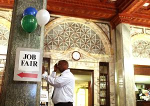 Job Seekers Attend Job Fair In San Francisco
