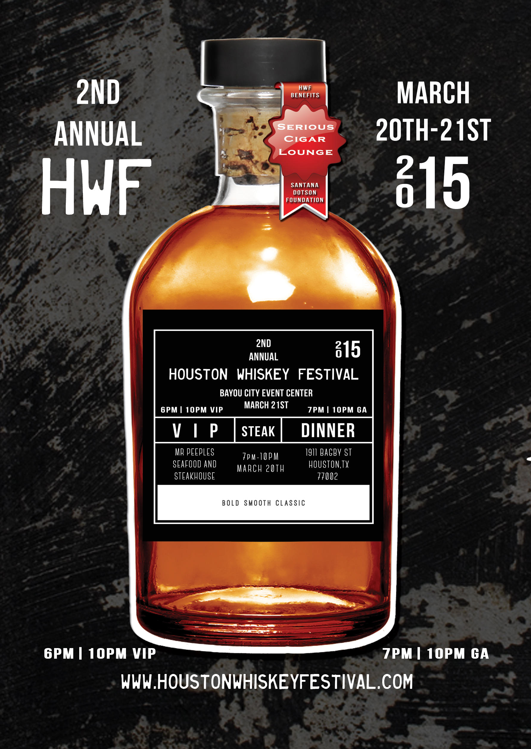 2015 Houston Whiskey Festival flyer
