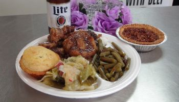 Ox Tails, Green Beans, Cabbage, Beans and Cornbread with Pecan Pie