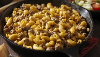 Cheesy Hamburger and Macaroni Dinner