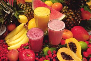 Tropical fruit smoothies