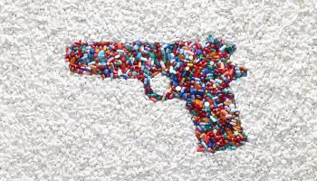 Handgun made of pills