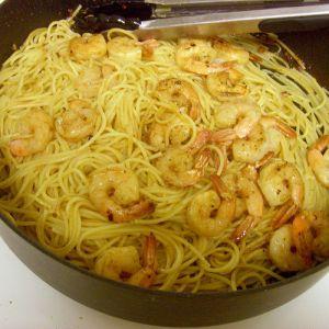 Garlic Lemon Pasta and Shrimp