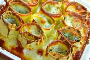 Spinach & Ricotta Lasagna Rollups