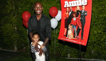 Tyrese Gibson And Daughter Host Screening Of ANNIE For Friends And Family