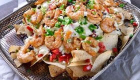Grilled Shrimp and Pepper Jack Cheese Nachos