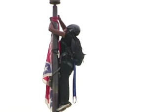 Brittany Newsome Climbs Flag Pole to Remove Confederate Flag