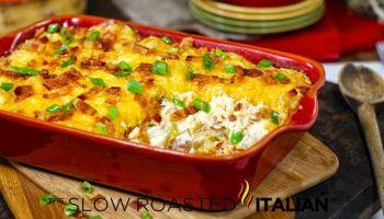 Fully Loaded Extreme Cheesy Potato Casserole