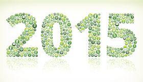 2015 Environmental Conservation Green Vector Button Pattern.