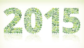 2015 Environmental Conservation Green Vector Button Pattern.