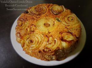 VIDALIA ONION UPSIDE DOWN BROCCOLI CORNBREAD