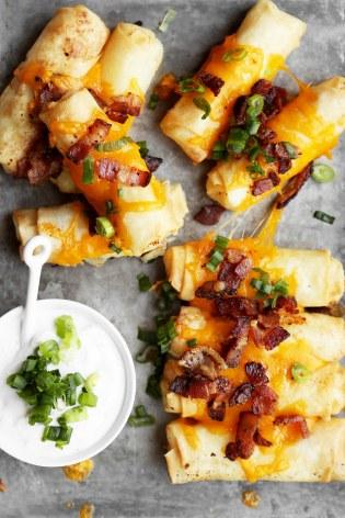 Loaded Baked Potato Spring Rolls Recipe
