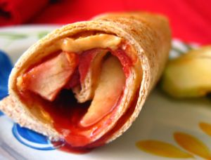 Peanut Butter, Jelly & Apple Roll-Ups