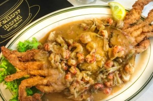 Soft shell Crab Spicy Crawfish E'touffée
