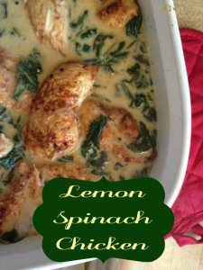 Lemon Spinach Chicken Recipe