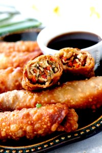 Sesame Chicken Egg Rolls