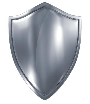 Shield on a white background