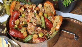 Pork rib with Okra and Smoked Sausage