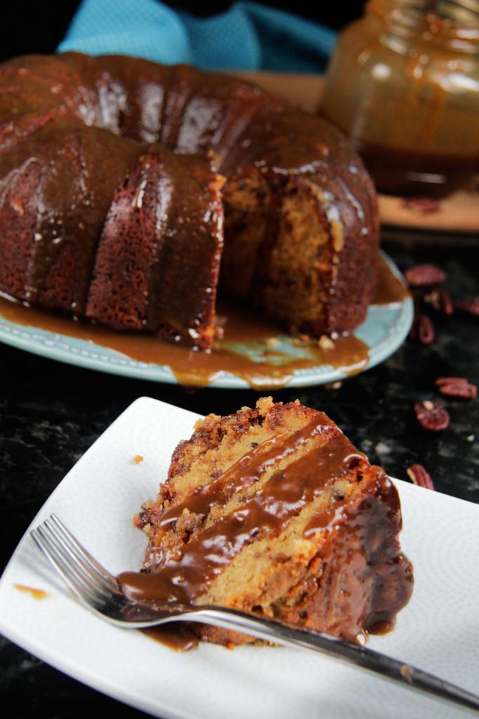 Brown Sugar Caramel Toffee Pound Cake