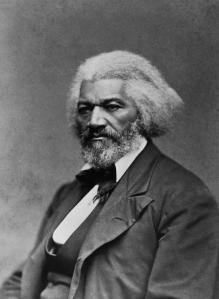 Frederick Douglass (1817-95), American activst and orator (B&W)