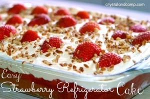 Strawberry Refrigerator Cake