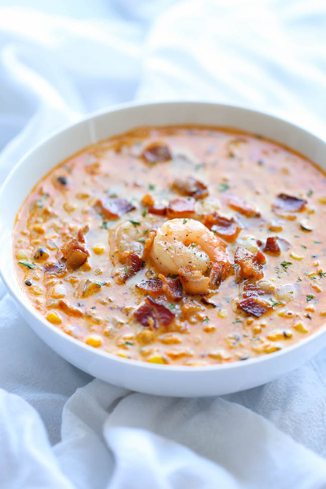 Shrimp and Bacon Corn Chowder