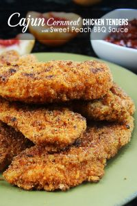 Spicy Cajun Chicken Tenders With Sweet Peach Barbecue Sauce