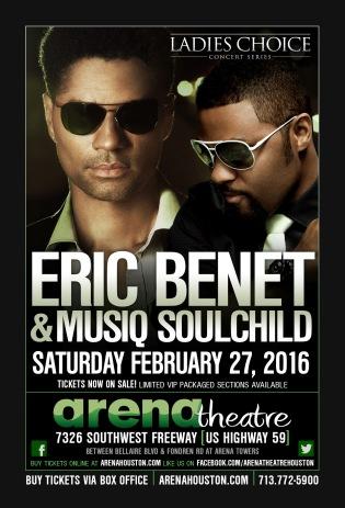 Eric Benet and Musiq Soulchild at Arena Theatre