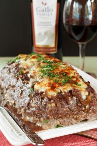 French Onion Soup Stuffed Meatloaf