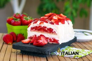 Strawberry Shortcake No-Bake Icebox Cake