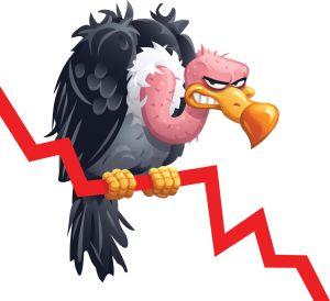 Vulture Sitting On A Falling Graph