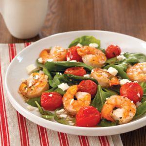 Roasted Shrimp and Tomato Salad