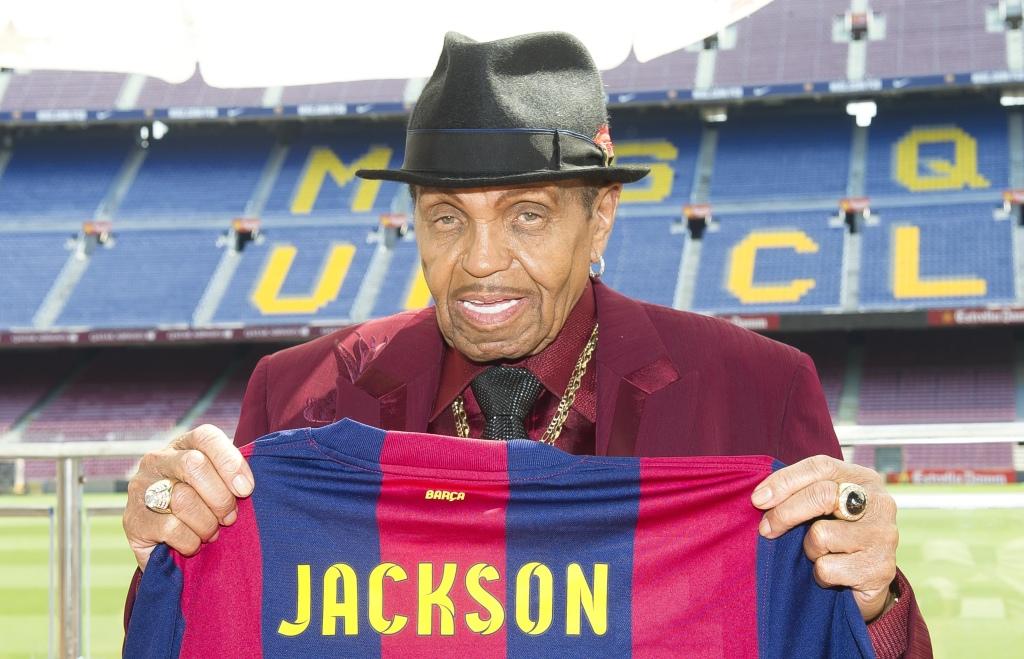 Joe Jackson Visits Barcelona FC Museum In Barcelona