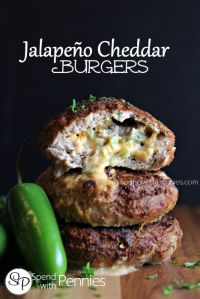 Jalapeno Cheddar Burgers (Turkey or Beef)