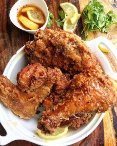 Lemon Pepper Honey Fried Chicken
