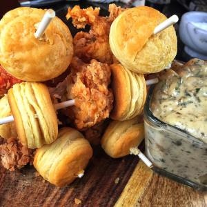 Chicken & Biscuits On A Stick