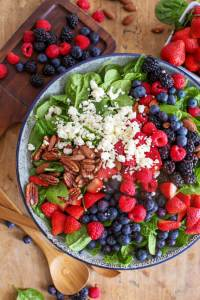 Fruit & Nut Spinach Salad