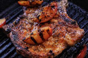 Plum & Mustard Glazed Pork Chops