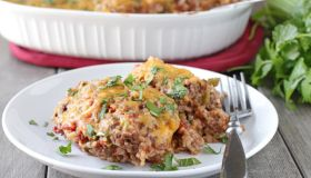 Spanish Beef and Rice Casserole