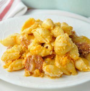 Buffalo Chicken Sausage Macaroni & Cheese