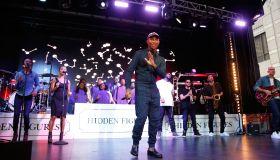 Pharrell Williams And Friends Perform 'Hidden Figures' Live On Festival Street During 2016 Toronto International Film Festival