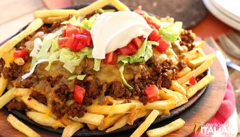 Fully Loaded Cheesy Taco Fries
