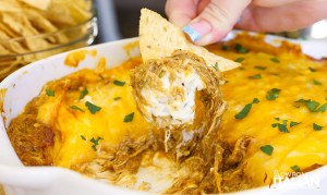 Cheesy Barbecue Ranch Chicken Dip