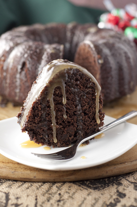 Hot Chocolate Coffee Rum Cake