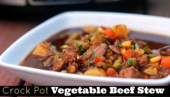 Crock Pot Vegetable Beef Stew