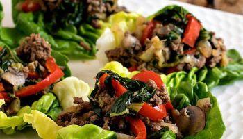 Moo Shu Beef Lettuce Cups