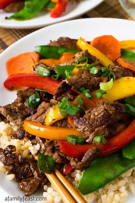 Beef Teriyaki and Vegetables
